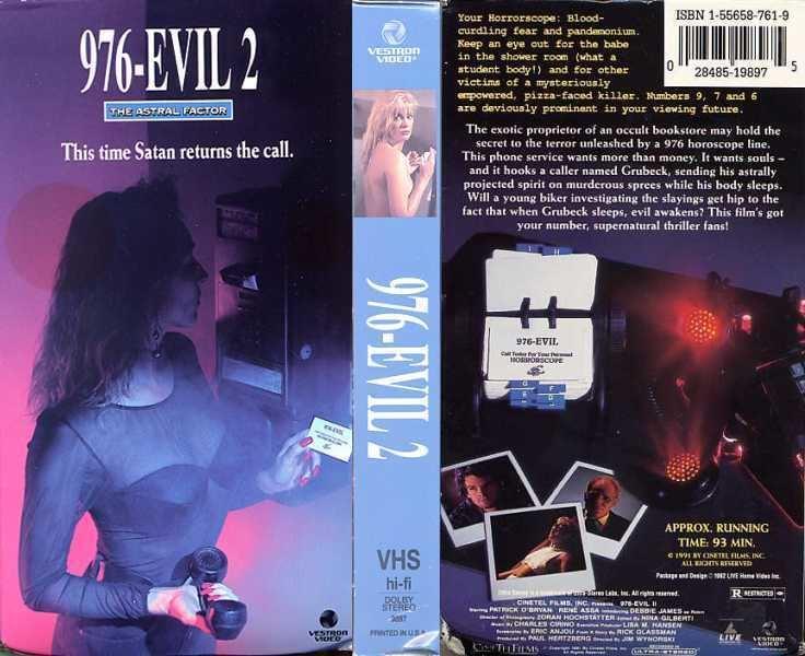 976-Evil II 976EVIL II 1991