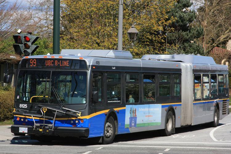 99 B-Line 8125 99 UBC BLine BusTrainFerrycom