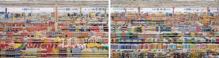 99 Cent II Diptychon Andreas Gursky works 99 Cent II Diptych