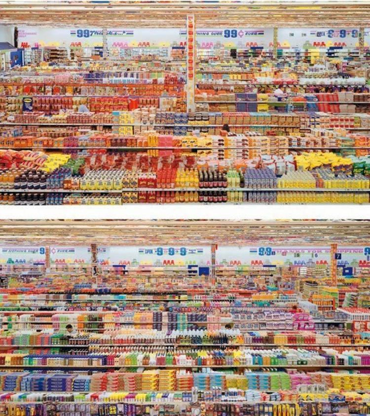 99 Cent II Diptychon Andreas Gursky World39s most expensive photographer ArtSheep