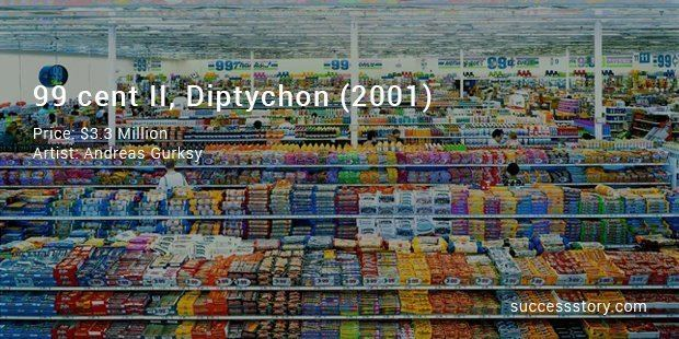 99 Cent II Diptychon 10 Most Expensive Photographs List