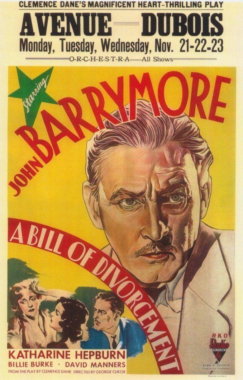 A Bill of Divorcement (1932 film) movie poster