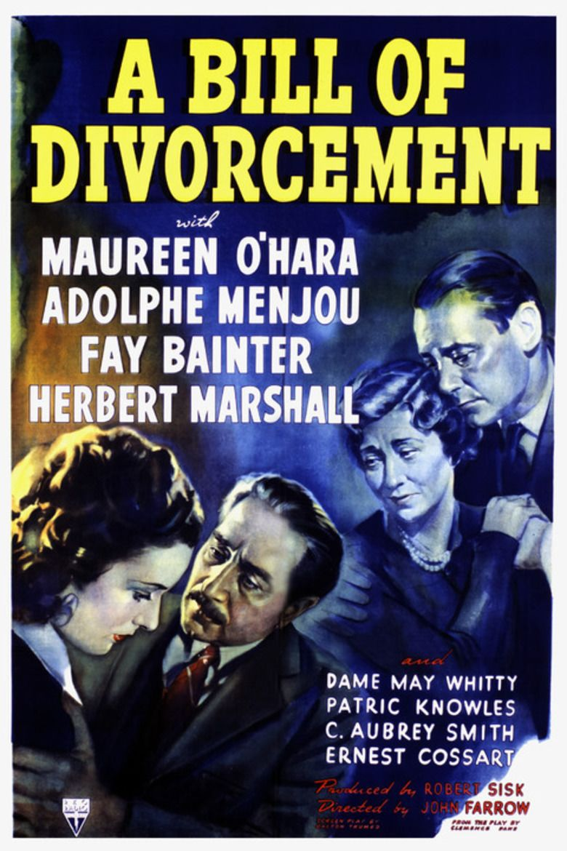 A Bill of Divorcement (1940 film) movie poster