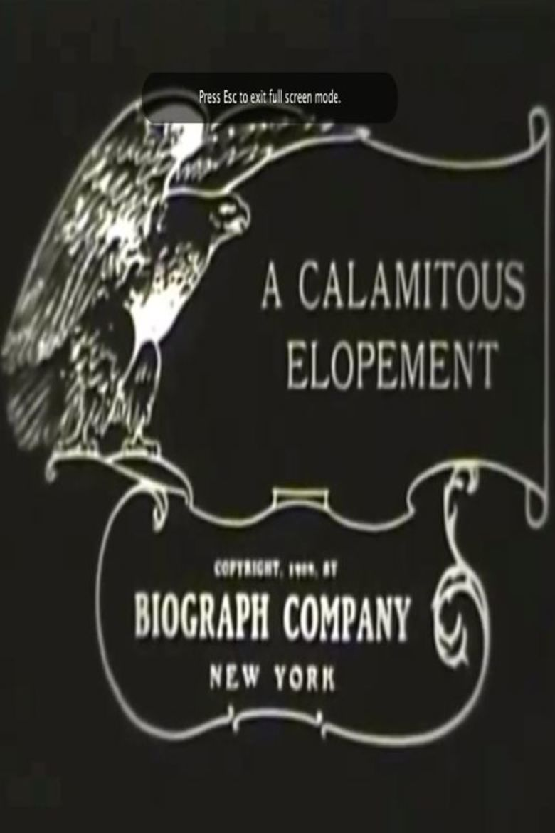 A Calamitous Elopement movie poster