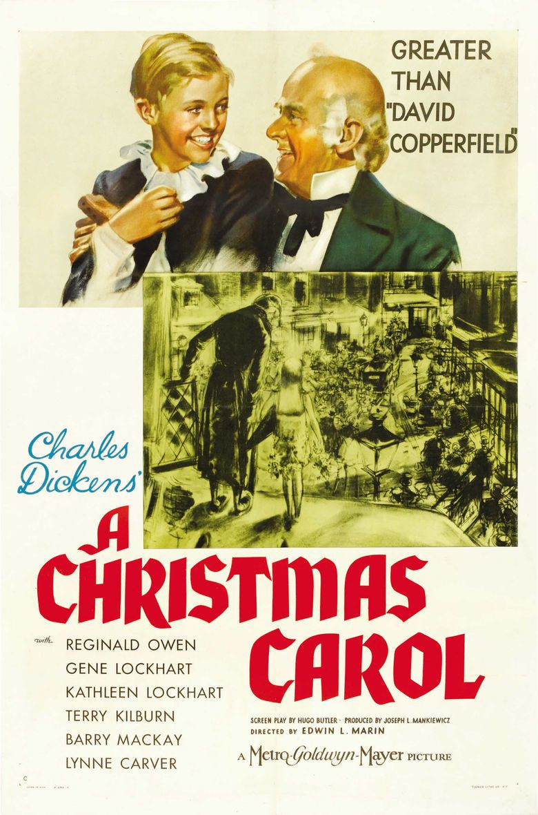 A Christmas Carol (1938 film) movie poster