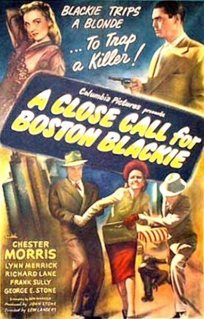 A Close Call for Boston Blackie movie poster
