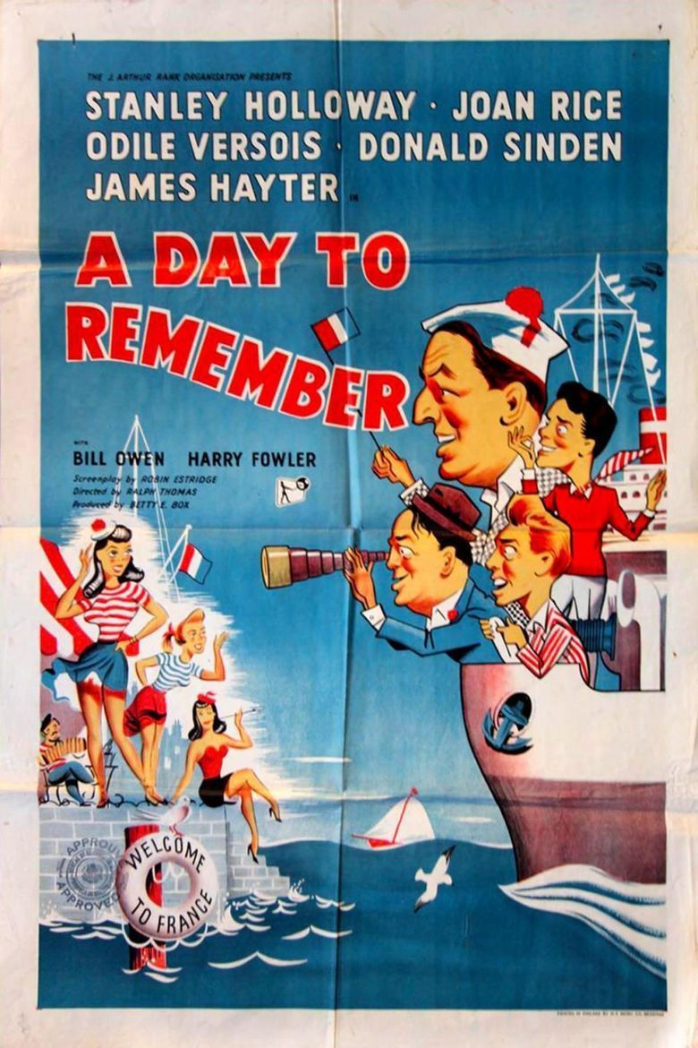 A Day to Remember (1953 film) movie poster