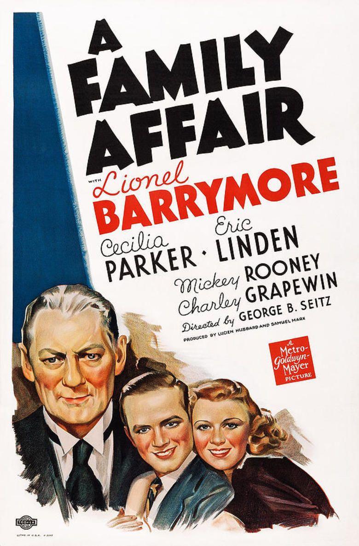 A Family Affair (1937 film) movie poster