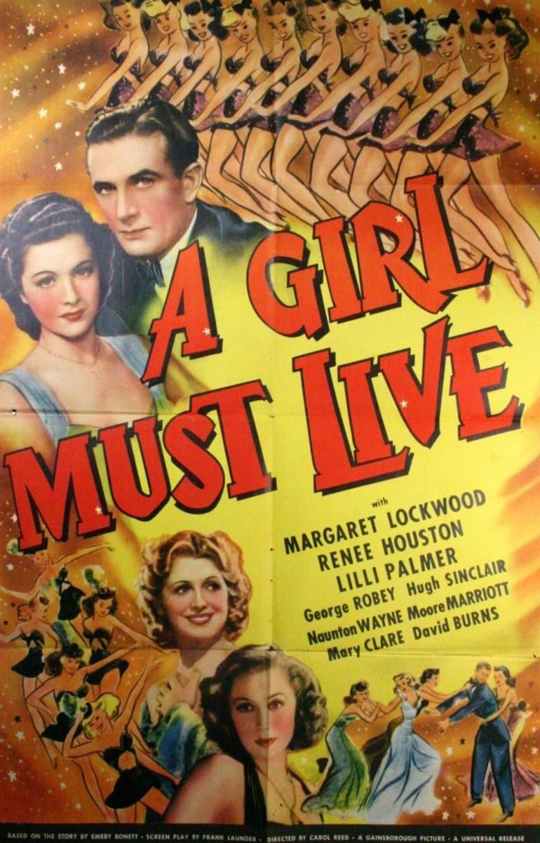 A Girl Must Live movie poster