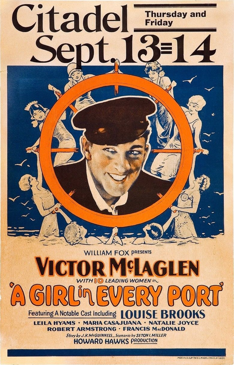 A Girl in Every Port (1928 film) movie poster