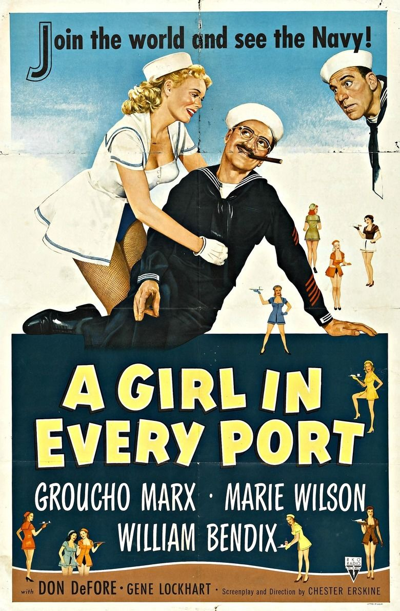A Girl in Every Port (1952 film) movie poster