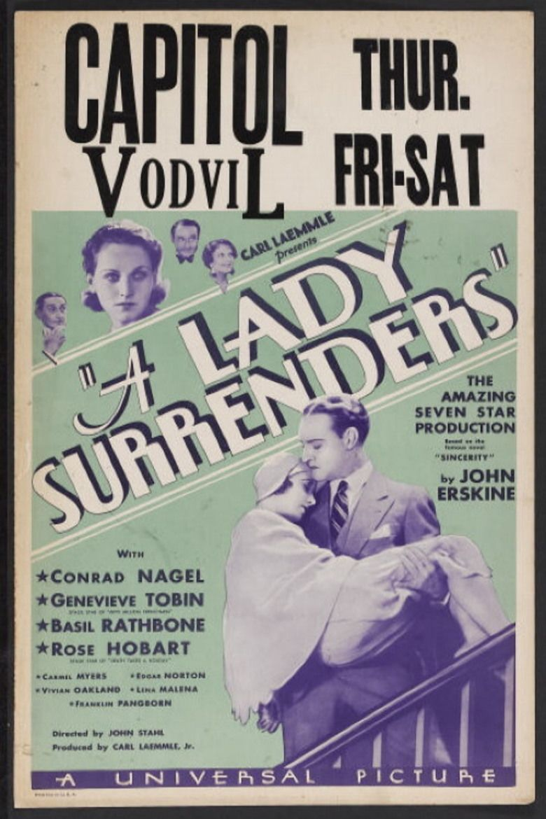 A Lady Surrenders movie poster