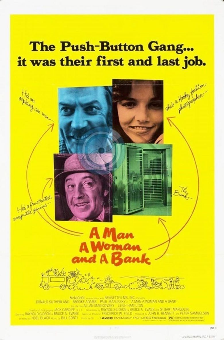 A Man, a Woman, and a Bank movie poster