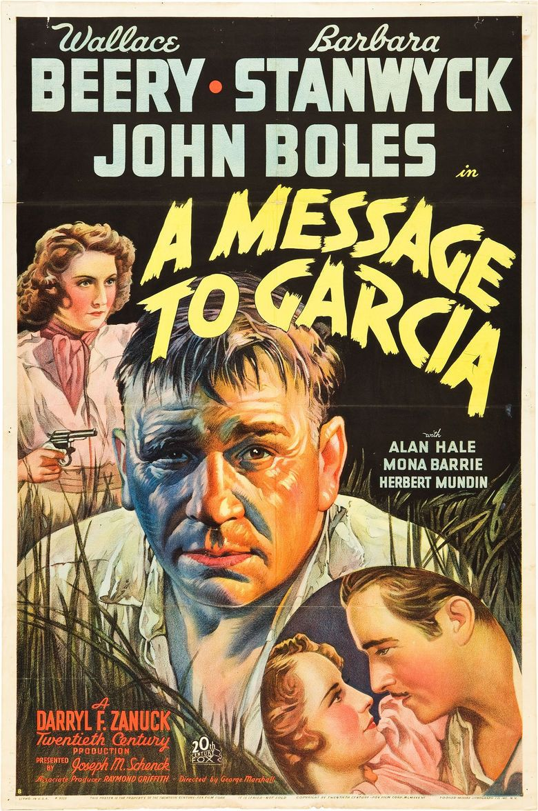 a message to garcia film the social a message to garcia 1936 film movie poster