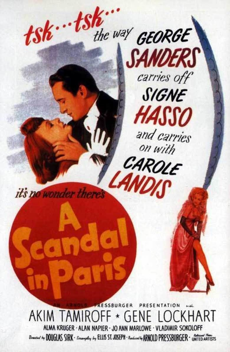 A Scandal in Paris movie poster