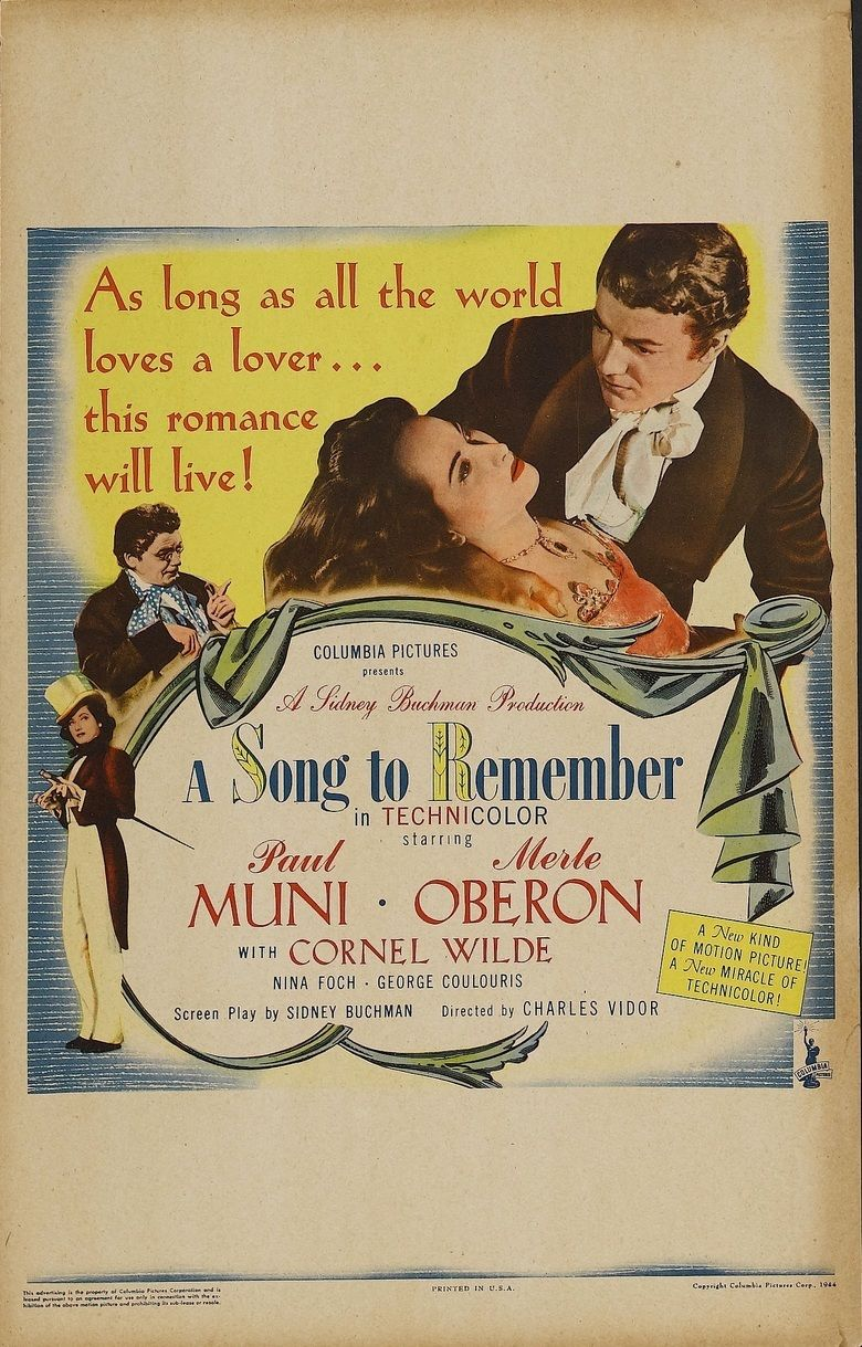 A Song to Remember movie poster