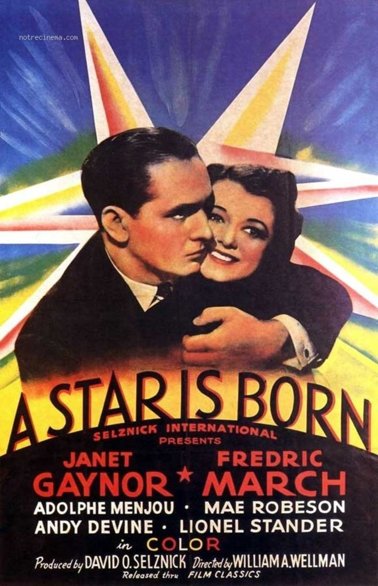 A Star Is Born (1937 film) movie poster