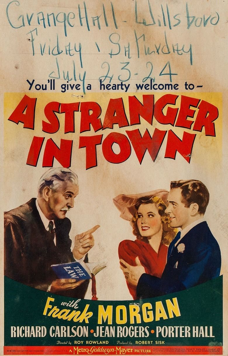A Stranger in Town movie poster
