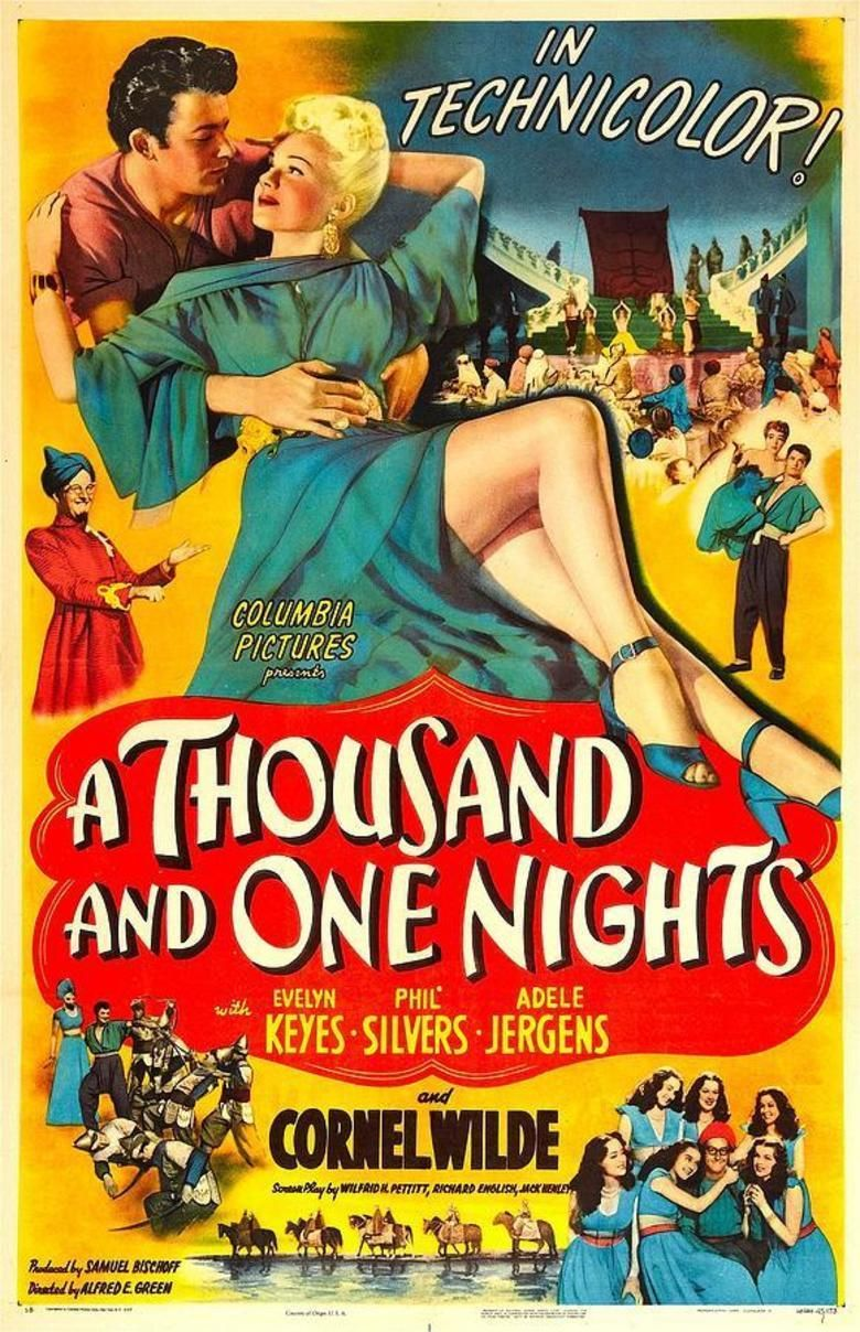 A Thousand and One Nights (1945 film) movie poster
