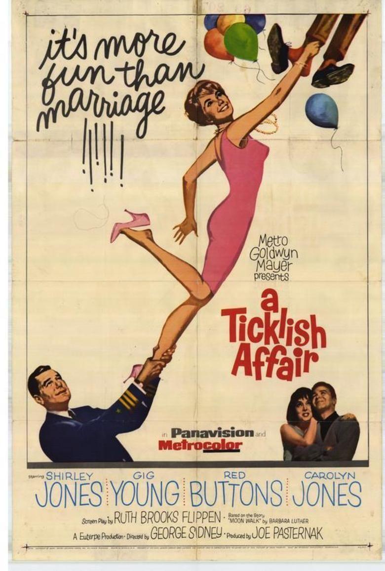 A Ticklish Affair movie poster