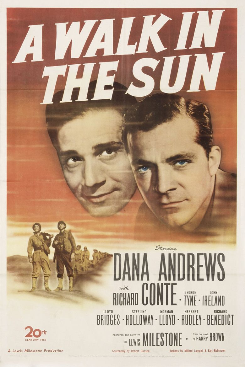 A Walk in the Sun (1945 film) movie poster