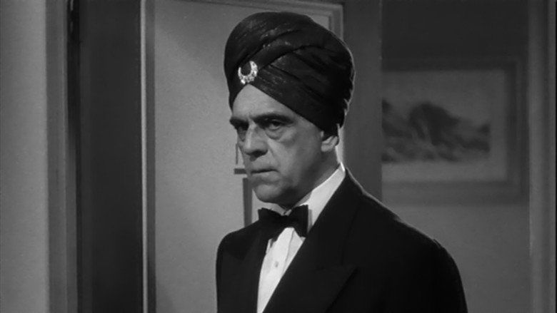 Abbott and Costello Meet the Killer, Boris Karloff movie scenes