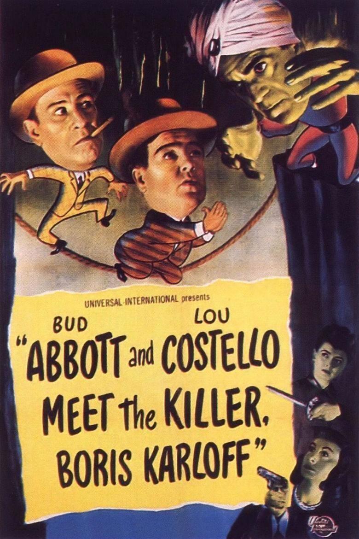 Abbott and Costello Meet the Killer, Boris Karloff movie poster