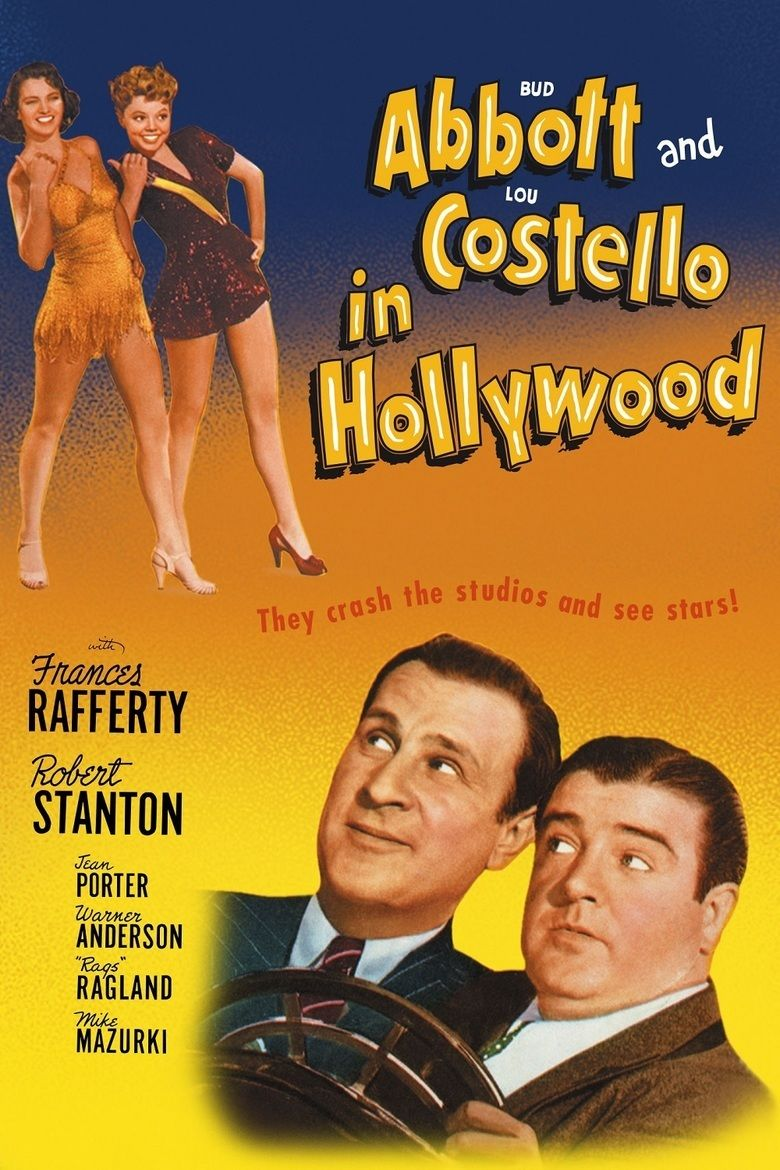 Abbott and Costello in Hollywood movie poster