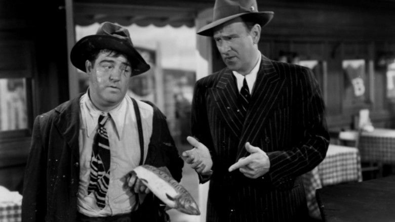 Abbott and Costello in Hollywood movie scenes