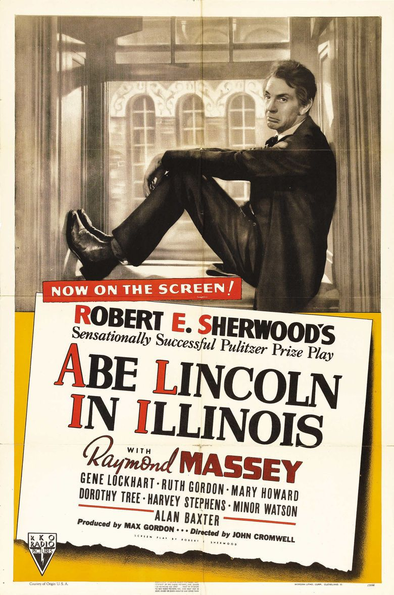 Abe Lincoln in Illinois (film) movie poster