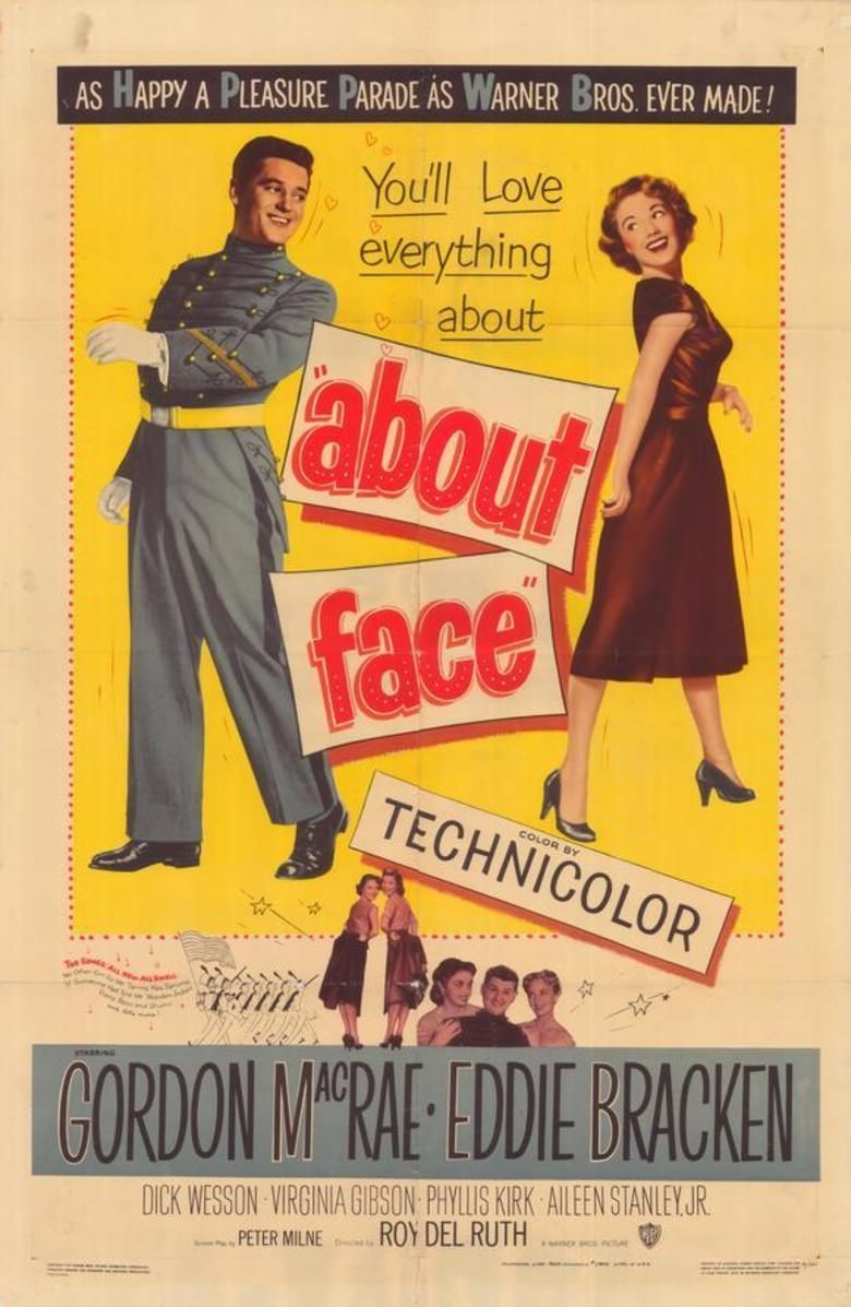 About Face (1952 film) movie poster