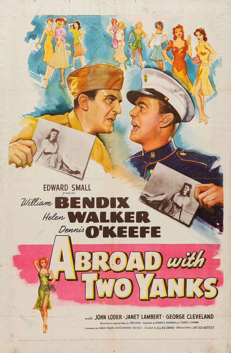 Abroad with Two Yanks movie poster