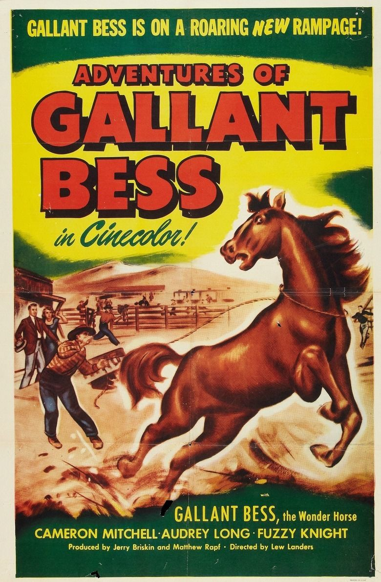 Adventures of Gallant Bess movie poster