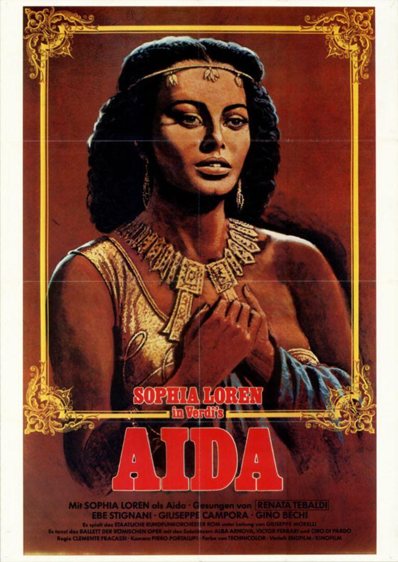 Aida (1953 film) movie poster
