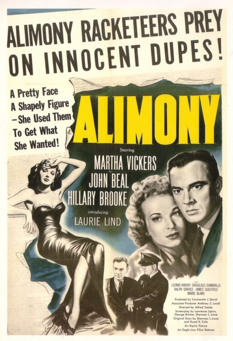 Alimony (1949 film) movie poster