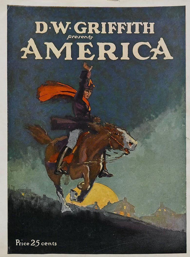 America (1924 film) movie poster