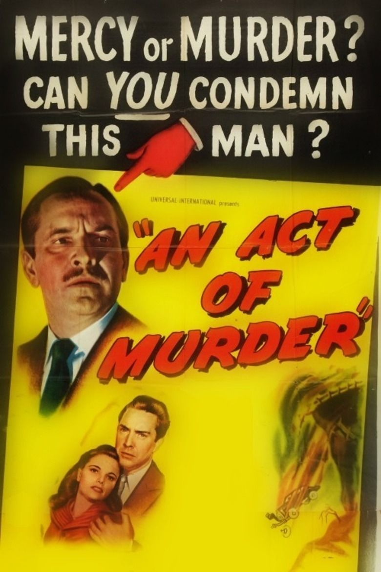 An Act of Murder movie poster