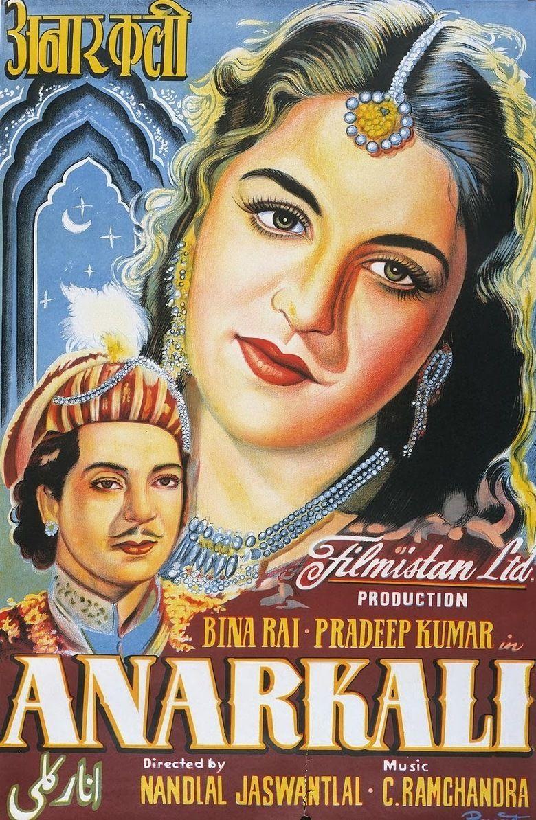 Anarkali (1953 film) movie poster