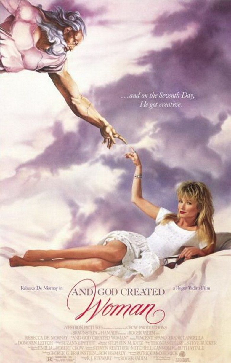 And God Created Woman (1988 film) movie poster