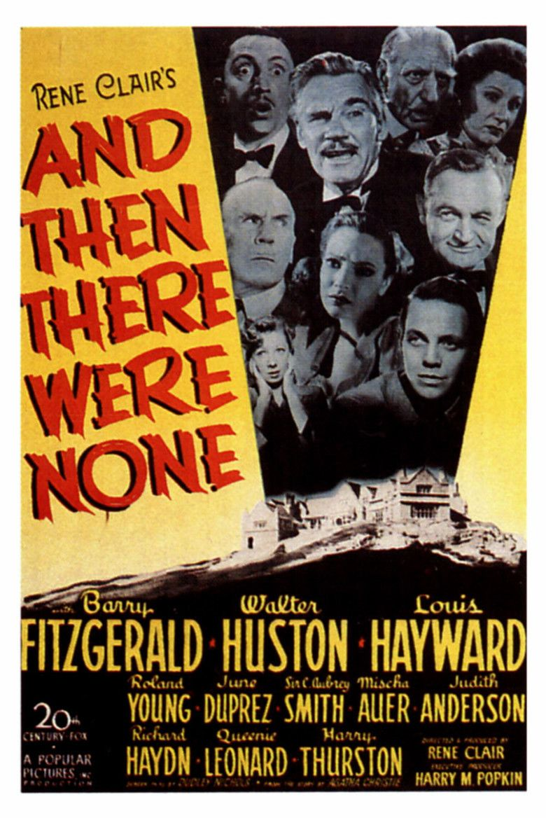 And Then There Were None (1945 film) movie poster
