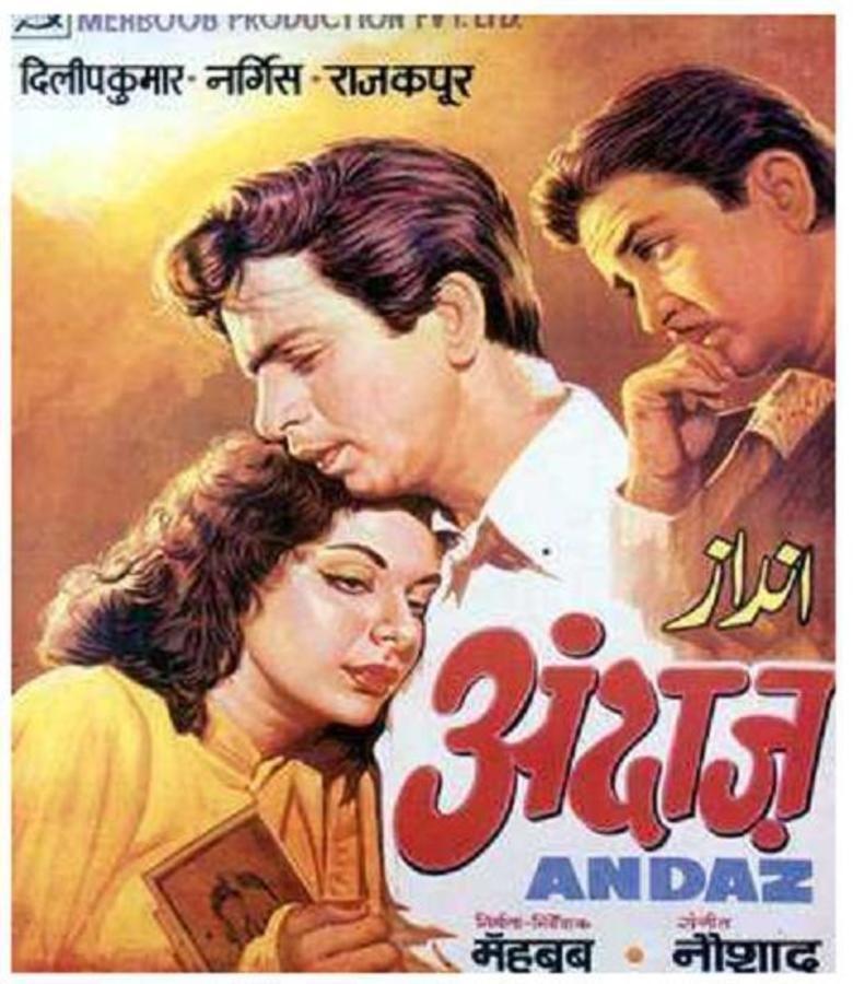 Andaz (1949 film) movie poster