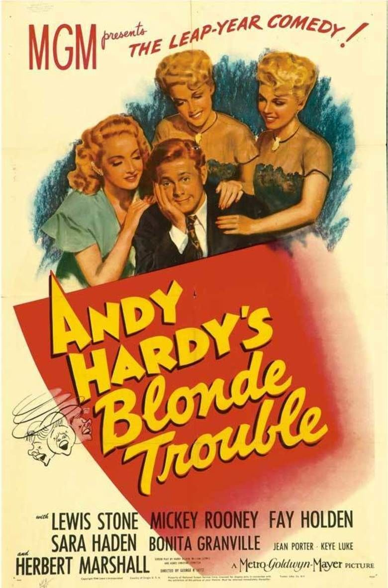 Andy Hardys Blonde Trouble movie poster