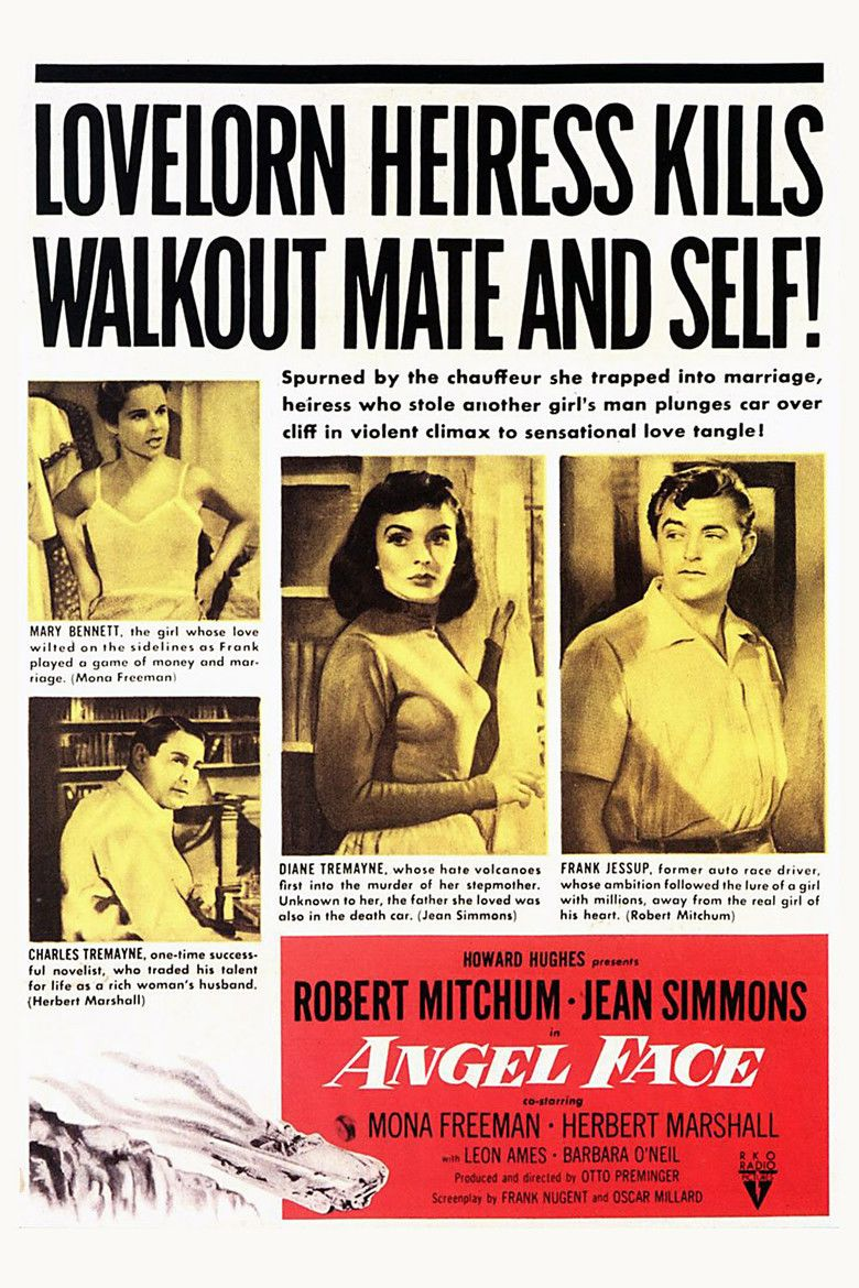 Angel Face (1953 film) movie poster