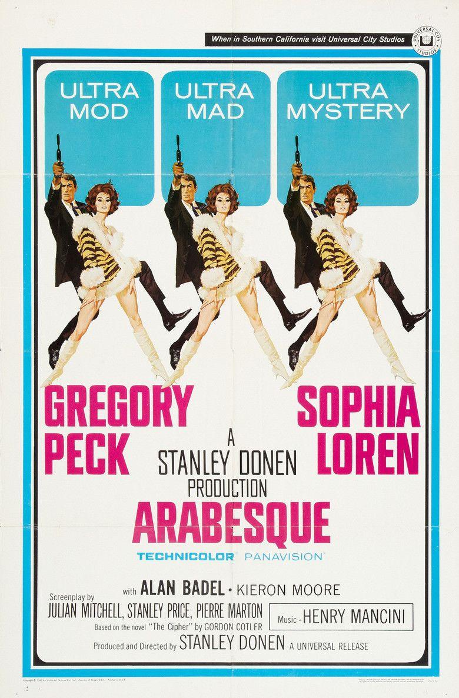 Arabesque (1966 film) movie poster