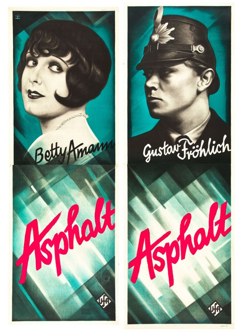 Asphalt (1929 film) movie poster