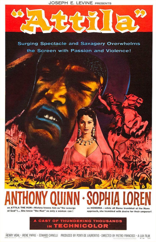 Attila (1954 film) movie poster
