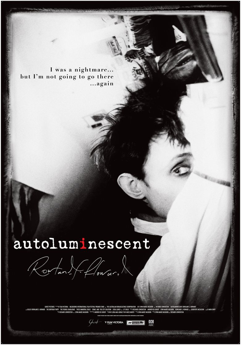 Autoluminescent movie poster