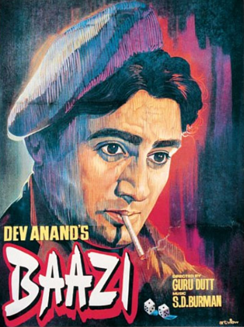 Baazi (1951 film) movie poster