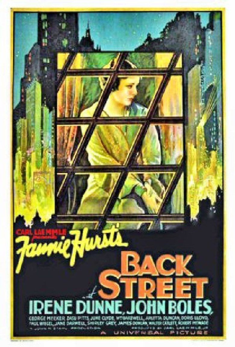 Back Street (1932 film) movie poster