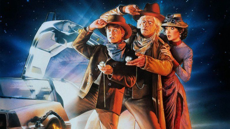 Back to the Future Part III movie scenes